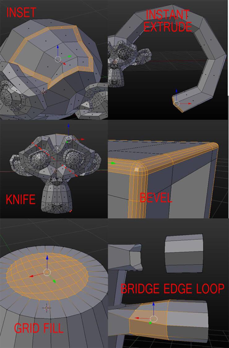 Инструменты 3D моделирования в Blender