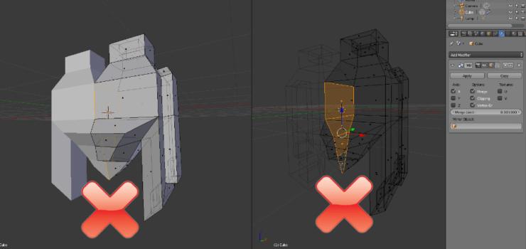 Внутренние грани в Blender