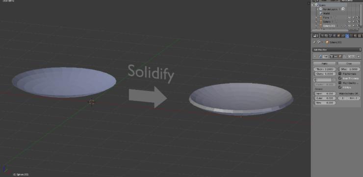 Модификатор Solidify в Blender