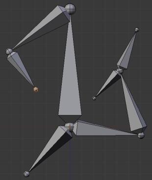 Пример (2) выдавливания костей в Blender 2.5