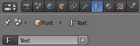 Вкладка для работы с текстом в Blender 2.5