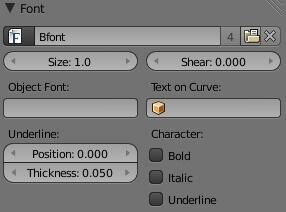 Работа со шрифтами в Blender 2.5