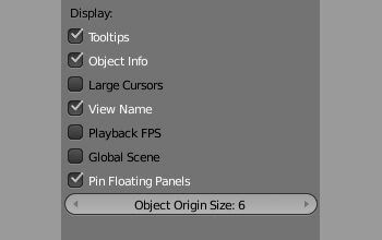 Подсказки по настройкам пользовательского интерфейса в Blender 2.5
