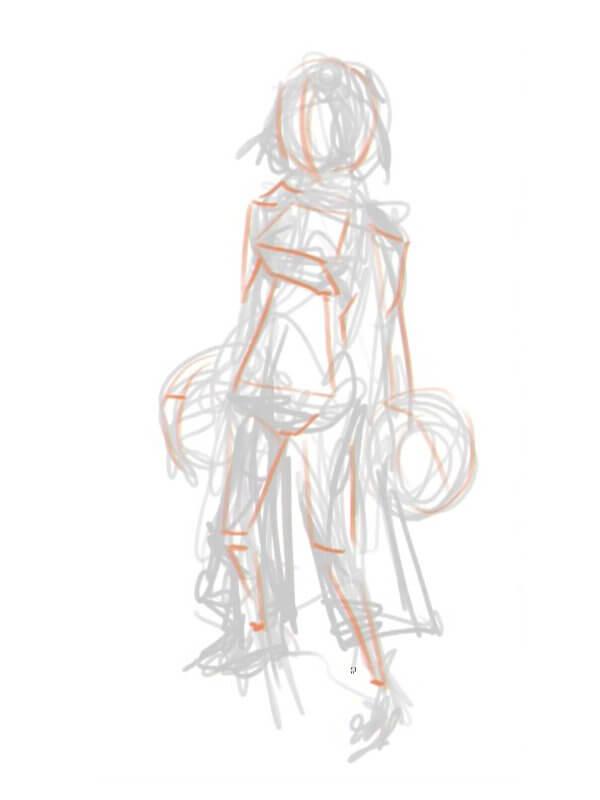 Представьте простую 3D-модель будущего персонажа