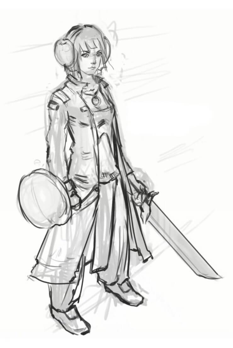 Lia Turtle, финальный рисунок