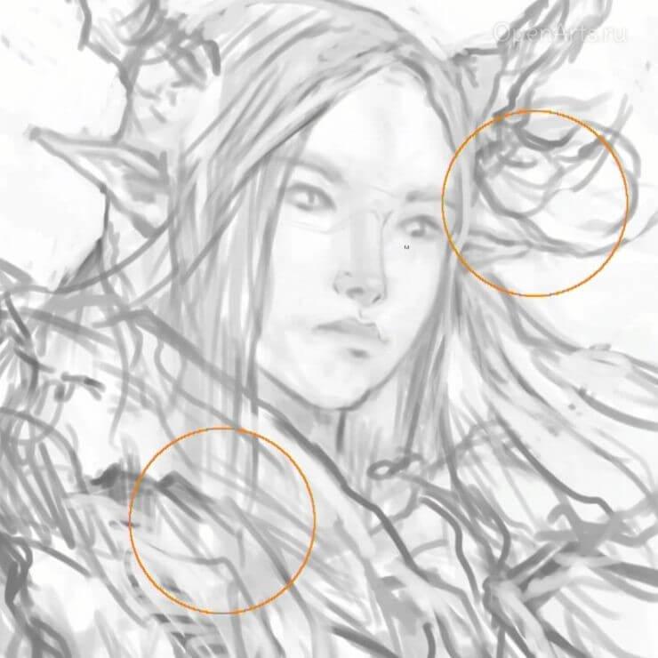 Добавление деталей к портрету персонажа