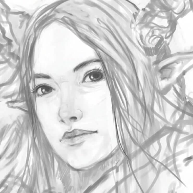 Уделите время прорисовке деталей лица