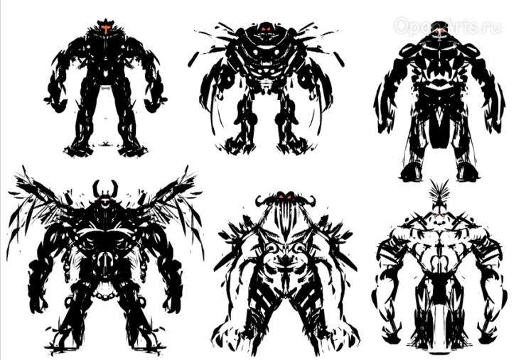 Примеры созданных в Alchemy персонажей