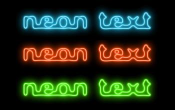 Урок по созданию неонового текста в Gimp