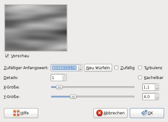 Создаем в Gimp новый файл и применяем к фоновому слою фильтр Облака