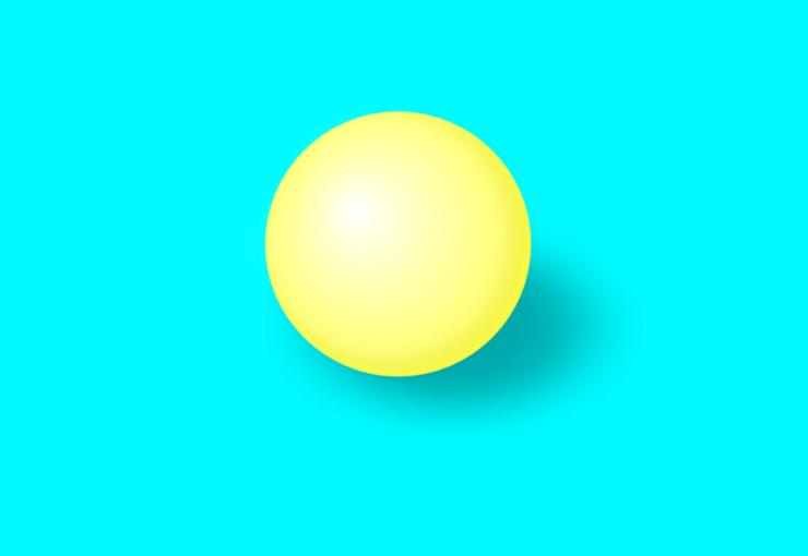 Шарик, созданный в Inkscape