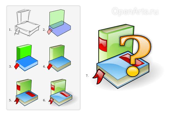 Мини-урок по созданию иконки с изображением книг в Inkscape