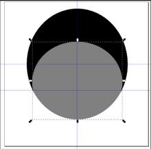 Изменение размера эллипса в Inkscape