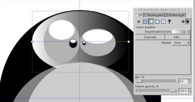 Линейный градиент в Inkscape