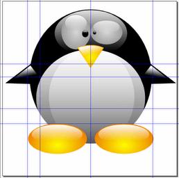 Финальное изображение Chibi Tux в Inkscape