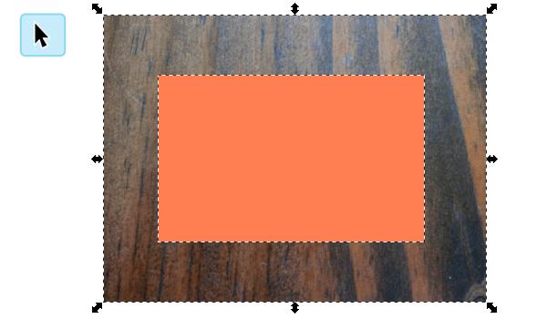 Выделение двух объектов в Inkscape