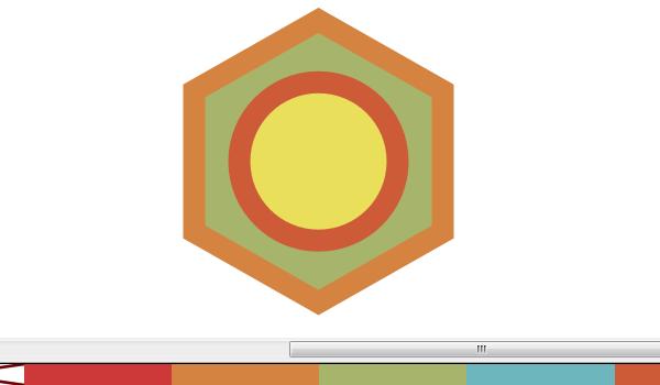 Назначение объектам в Inkscape цветов из палитры