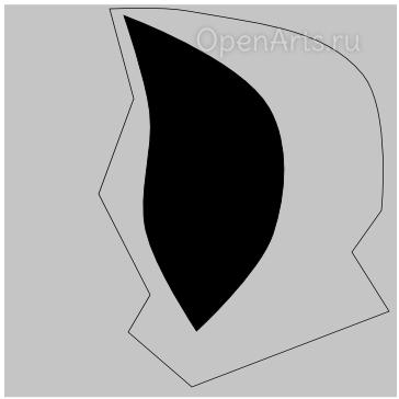 Заливка фигуры черным цветом в Inkscape