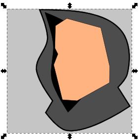 Заготовка для головы в Inkscape