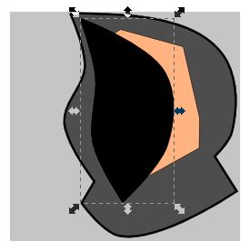 Выделение и дублирование в Inkscape