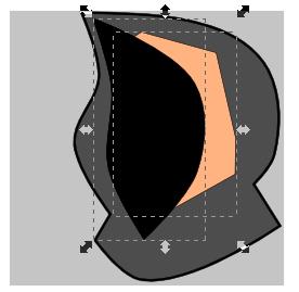 Обрезка лишнего в Inkscape