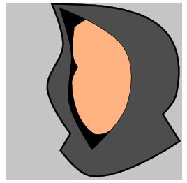 Форма лица в Inkscape