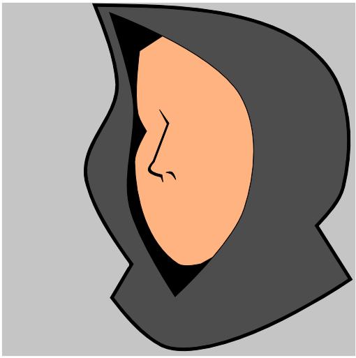 Заливка формы носа в Inkscape