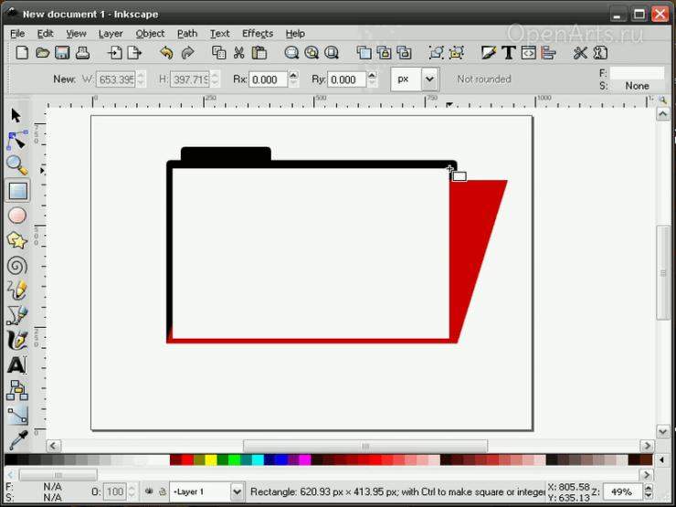 Создание белого листа в Inkscape