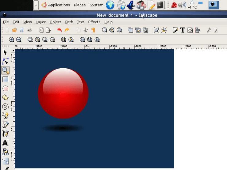 Наш шар готов, и мы использовали для его рисования только Inkscape
