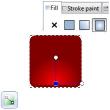 Радиальный градиент в Inkscape
