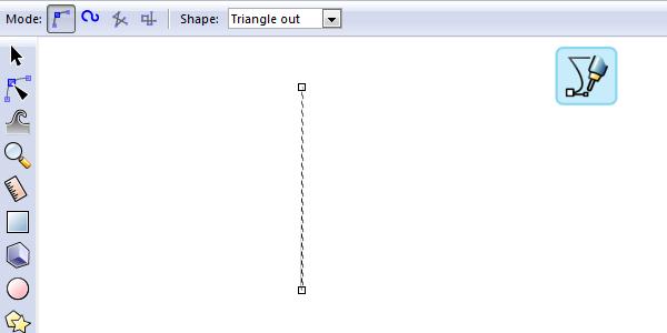Рисование кривой треугольной формы в Inkscape
