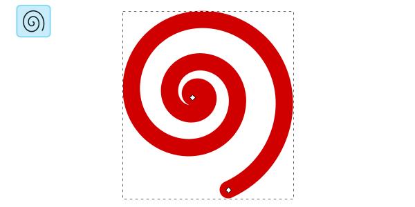 Создание спирали в Inkscape