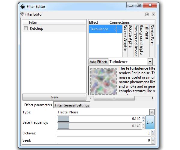 Создание фильтра из набора эффектов в Inkscape