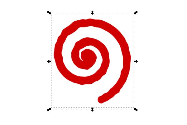 Применение эффекта к объекту в Inkscape