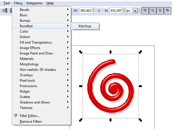 Сохранение своих собственных наборов эффектов в виде фильтров в Inkscape