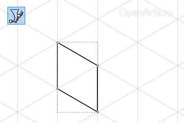 Привязка контура к сетке в Inkscape