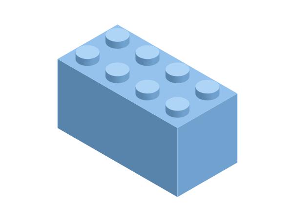 Финальный вид кирпичика Лего