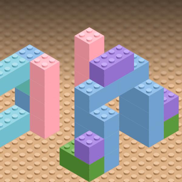 Lego в Inkscape - финальная картинка