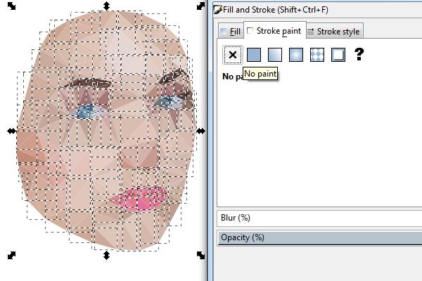 Раскрашивание треугольных полигонов в Inkscape