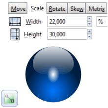 Трансформация объекта в Inkscape