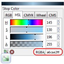Добавление стоп-точки для градиента в Inkscape