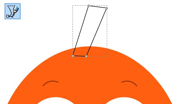Рисование верхнего плавника