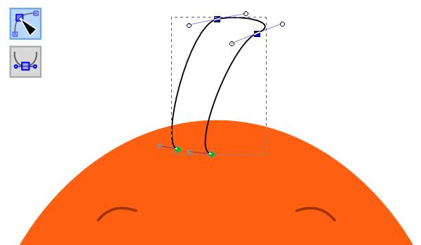 Закругления у верхнего плавника
