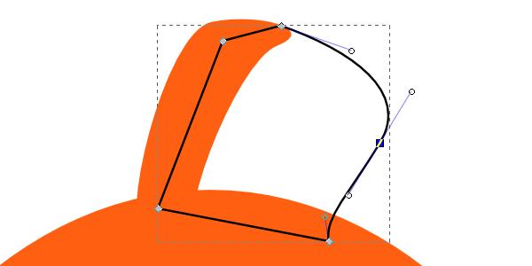 Закругление заготовки для тени на плавнике