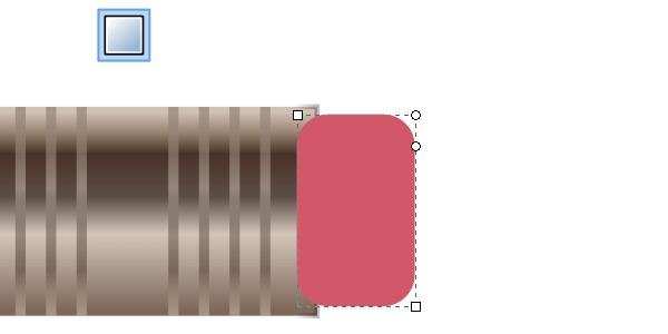 Рисование резинки на кончике карандаша