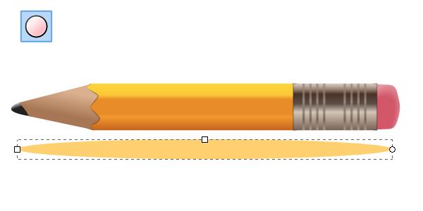 Рисование отражения карандаша в Inkscape