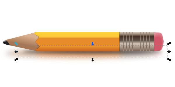Создание тени карандаша в Inkscape