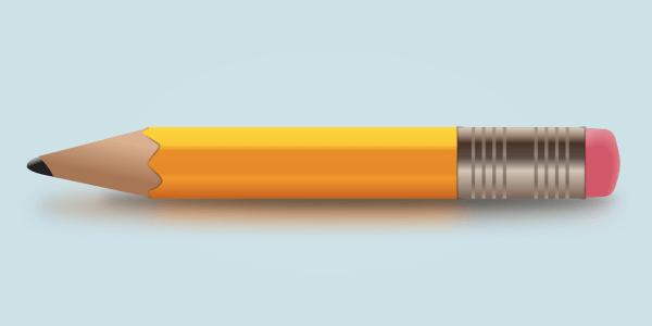 Финальное изображение нарисованного в Inkscape карандаша