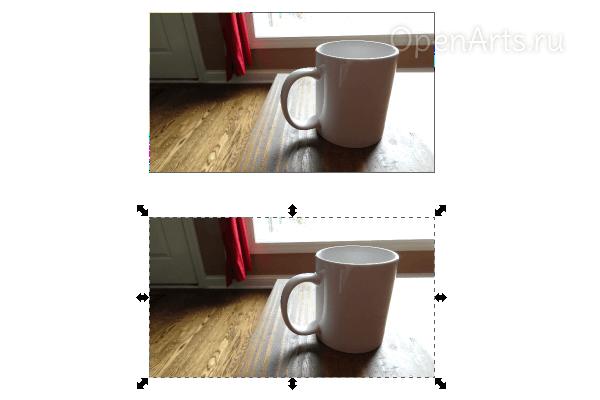 Дублирование фотографии в Inkscape