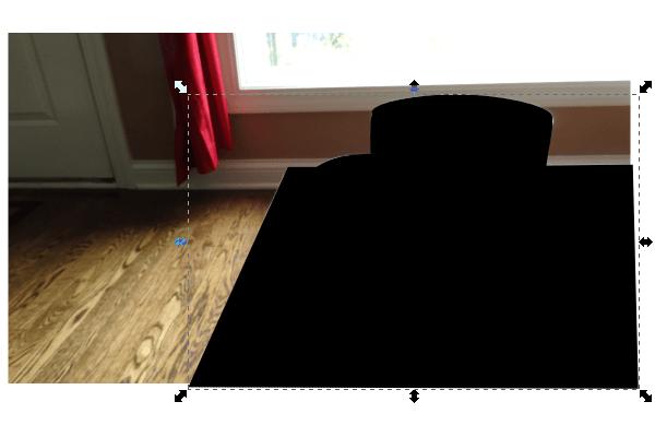 Заливка области обтравки фото в Inkscape